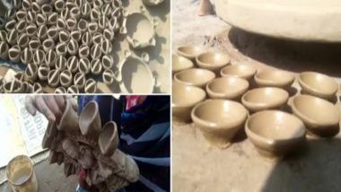 Diwali 2020: Prayagraj Potters Expect to Earn More This Year From Sale of Earthen Diyas, Due to Customers Boycotting Chinese Goods