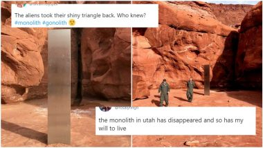 Alien, Is That You? Mysterious Monolith From Utah Desert Has Disappeared! Netizens Spin Their Heads With Conspiracy Theories and Funny Reactions