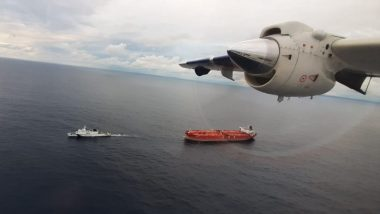 Indian Coast Guard Vessel Vishwast Tows Oil Tanker Drifting Dangerously Towards Nicobar Islands to Safety