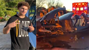 YouTuber Gage Gillian Crashes Father's $3.4 Million Pagani Huayra Roadster, 17-Year-Old Says 'Sh*t Happens', Pics & Video of Wrecked Car Go Viral