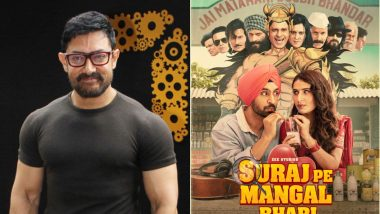 Aamir Khan Excitedly Steps Out To Watch Fatima Sana Shaikh's Suraj Pe Mangal Bhari In a Theatre (Read Tweet)
