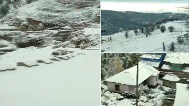 Pirpanjal Range in Jammu And Kashmir Receives Heavy Snowfall; Jammu-Srinagar National Highway Closed at  Jawahar Tunnel Area (Watch Video)