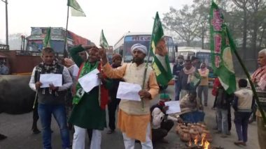 Bharat Bandh: RJD Joins Trade Unions Strike in Bihar, Party Workers Block Road With Buffaloes