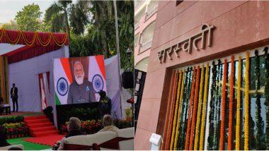 PM Narendra Modi Inaugurates Multi-Storeyed Flats for MP's in New Delhi's BD Marg