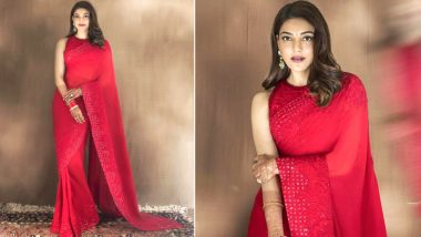 Kajal Aggarwal Stuns in a Manish Malhotra Sequin Saree for Her First Karwa Chauth (View Pic)