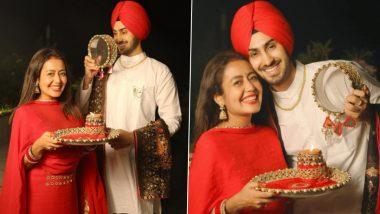 Neha Kakkar and Rohanpreet Singh's First Karwa Chauth Celebration Photos Will Melt Your Heart