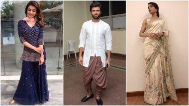 Diwali 2020: Samantha Akkineni, Vijay Deverakonda and Kajal Aggarwal's Ethnic Outings that Will Help You Pick the Right Outfit this Festive Season (View Pics)