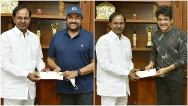 After Chiranjeevi Tests Positive for COVID-19, Twitterati Is Now Concerned for Akkineni Nagarjuna and Telangana CM K Chandrashekar Rao Over These Pics! (View Tweets)