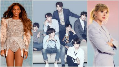 Grammy Awards 2021 Full Nominations List: Beyonce, Taylor Swift Get Recognised in Different Categories, BTS Thrilled With their Nomination