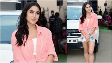 Yo or Hell No? Sara Ali Khan's Hot Pants and Baby Pink Shrug for Coolie No 1 Promotions