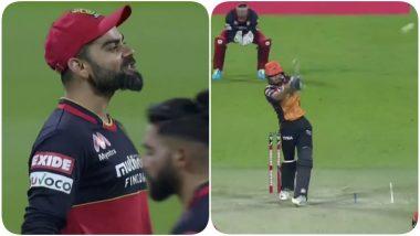 Virat Kohli Attempts to Provoke Manish Pandey During SRH vs RCB Eliminator IPL 2020, SRH Batsman Comes Up With a Befitting Reply