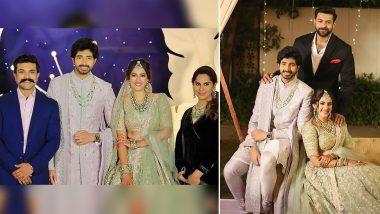 Photos From Niharika Konidela – Chaitanya JV's Wedding Reception Surface Online! Varun Konidela, Ram Charan, Upasana Kamineni Konidela And Others Pose With The Newlyweds