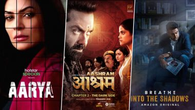 Sushmita Sen in Aarya, Bobby Deol in Aashram, Abhishek Bachchan in Breathe Into The Shadows – List of Bollywood Celebs That Took the OTT Route for Comeback