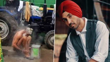 Diljit Dosanjh Shares a Heart Wrenching Picture of a Farmer, Calls Out People Who Are Dehumanising the Protesters And Calling Them Terrorists (View Pic)