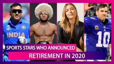 Major Sports Stars Who Retired in 2020: MS Dhoni, Shane Watson & Others Who Hung Up Their Hats