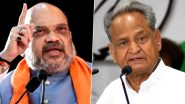 Ashok Gehlot Accuses BJP of Trying to Topple Congress Government in Rajasthan, Says MLAs Ashamed to See Amit Shah as Home Minister