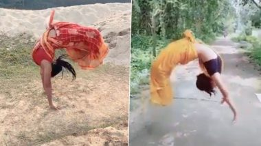 Sari, Not Sorry! Somersault, Backflip, Hula Hoop & More, These Indian Women Showcase Their Gymnastic Skills in Sarees—Perfect Blend of Grace & Talent!