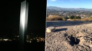 California Monolith Disappears! Group of Men Took Down the Metallic Structure at Pine Mountain in Atascadero & Replaced It With Wooden Cross (View Pics)