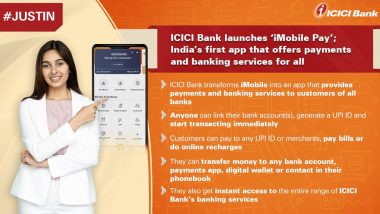 ICICI Bank Officially Enters 'FinTech' Space by Launching 'iMobile Pay' App