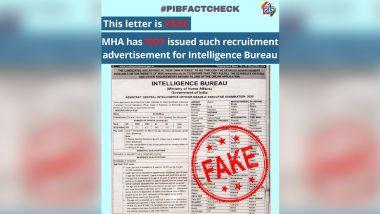 Intelligence Bureau Invited Job Applications Via Recruitment Ad? PIB Fact Check Busts Fake News