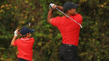 Like Father Like Son! Tiger Woods and his 11-Year Old Son, Charlie, Show Uncanny Resemblance While Playing Golf (Watch Video)