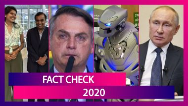 Fact Check 2020: Mukesh Ambani Suffering From Cancer, Vladimir Putin Released 800 Lions On Russian Streets, 7 Fake News That Went Viral This Year