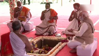 Central Vista Project Bhoomi Pujan: PM Narendra Modi Lays Foundation Stone of New Parliament Building