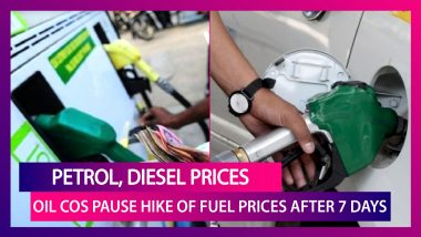 Petrol, Diesel Prices: Oil Companies Pause Hike Of Fuel Prices Across Metro Cities After Seven Days