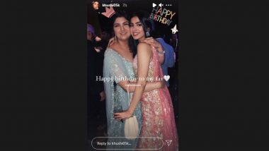 Khushi Kapoor's Birthday Post For Her Favourite Anshula Kapoor Is Adorable And Glamorous!