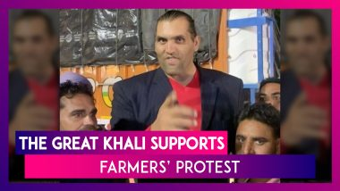 Farmers' Protest: The Great Khali, Former WWE Wrestler Extends Support; Agitation Music Sweeps Punjab