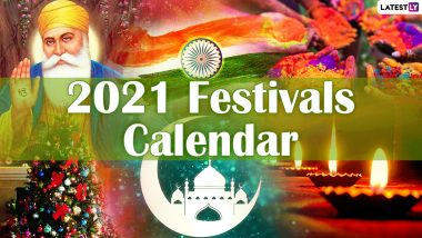 2021 Holidays Calendar for Free PDF Download Online: List of National Festivals in India, International Days, Long Weekend Dates and Events in New Year
