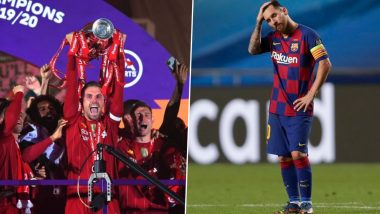Year Ender 2020: Liverpool's Title Glory, Barcelona's European Humiliation and Other Top Football Moments From This Year