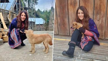 Radhika Madan Cutely Poses With a Dog but It's Her 'Tuada Kutta Tommy' Reference That Is Winning Hearts