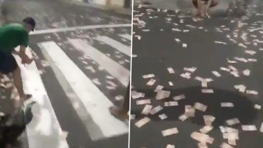 Brazilian Bank Robbers Loot Criciúma 'Money Heist' Style by Throwing Currencies on the Street Creating a Hubbub During Escape