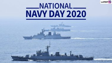 Indian Navy Day 2020 Wishes, Quotes and HD Images: WhatsApp Stickers, Messages & Navy Pics to Celebrated the Naval Branch of the Indian Armed Forces