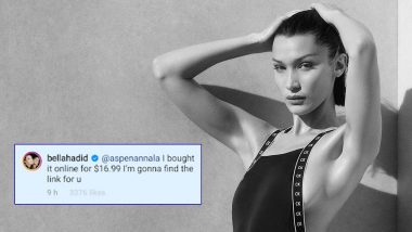 Wait, What? Bella Hadid Replies to Instagram User in Awe of Her Affordable Plunging Green Velvet Dress With its Price, Promises to Find the Link for Her to Buy Online