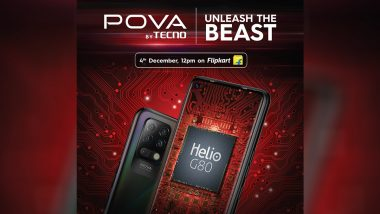Tecno Pova With 6,000mAh Battery to Be Launched Tomorrow in India