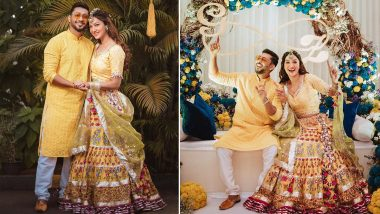Gauahar Khan and Zaid Darbar's Haldi Pictures Out: GaZa Sport the Radiant Dulha-Dulhann Look And Its Lovely