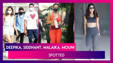 Deepika Padukone & Siddhant Chaturvedi Twin In White; Malaika Arora's Stylish Gym Look; Vidya Balan, Mouni Roy, Elli AvrRam Spotted In The City