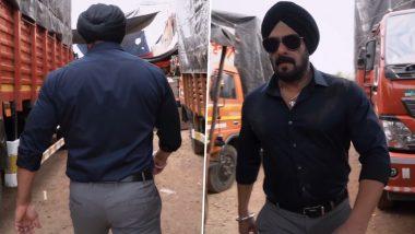 Antim: A Turban-Clad Salman Khan Makes a Grand Entry on the Sets of Aayush Sharma's Film (Watch Video)