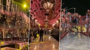 Wedding Decorations for 6 Crore? From Glitzy Chandeliers to Heavy Floral Set-Ups, Videos Go Viral From Surat's Exorbitant Marriage Ceremony