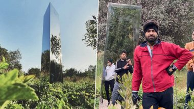 Monolith Surfaces in Gujarat, the Triangular Prism-Shaped Structure Emerged in a Garden in Ahmedabad