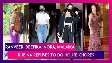 Ranveer Singh, Deepika Padukone At Gateway Of India; Nora Fatehi At The Airport; Malaika Arora & Tiger Shroff Spotted In The City