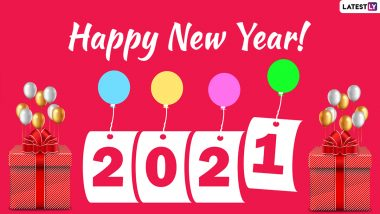 Happy New Year 2021 Wishes Images for Friends & Family: WhatsApp Messages, HNY Greetings, Photos, HD Wallpapers, Quotes, Status and Captions to Welcome the New Year