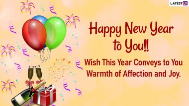 Happy New Year 2021 Wishes, WhatsApp Stickers & Quotes: New Year Messages, HD Images, Facebook Greetings, GIFs and Pics for Joyful Times Ahead