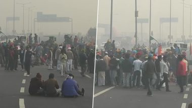 Protesting Farmers Block Ghazipur Border;  Delhi-Ghaziabad Border Closed for Traffic from Both the Sides