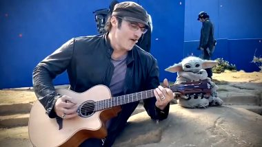 Robert Rodriguez Strumming A Guitar and Entertaining Baby Yoda is The Viral Video You Need to See Today!