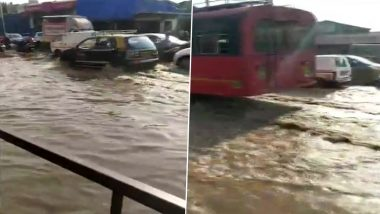 Mumbai: 57-Inch Water Pipeline Bursts in Mahim; Water Supply Affected in Dadar, Matunga And Other Areas