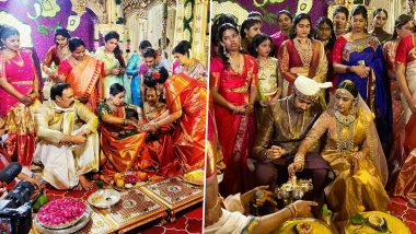 #Nischay Wedding: Niharika Konidela and Chaitanya JV's Tie the Knot in an Intimate Ceremony (View Pics and Videos)