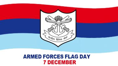 Armed Forces Flag Day 2020: Know Date, History And Significance of The Day Dedicated to Welfare of Indian Armed Forces Personnel
